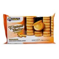 马来西亚茱蒂丝纯花生酱三明治饼干135g*2袋
