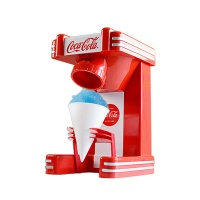 复古单筒刨冰机可乐红