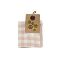 天然有机纯棉方格小方巾25cmX25cm