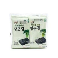 韩国进口乐曦西兰花味海苔20g