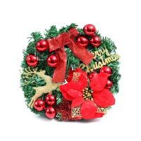红色圣诞花环-直径30cm(红色)