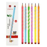 UNISUN彩色细杆洞洞铅笔12支装×5盒装