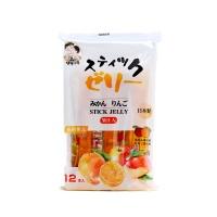 日本水果味条形果冻192g(蜜桔味+苹果味