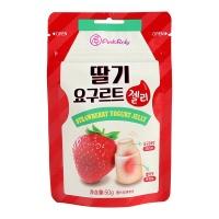 韩国品可粒酸奶味草莓夹心软糖50g