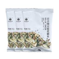 大地厨房百合绿豆桂花粥米150g×3