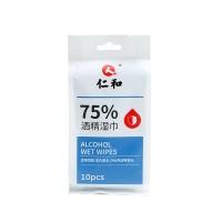 仁和酒精湿巾(75%) 180mmx140mmx10片