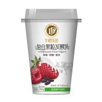 牛奶乐园草莓+树莓+紫米口味酸奶290g