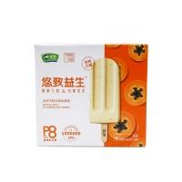 田牧木瓜牛奶益生菌冰淇淋268g(4支)