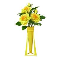 花点新思儿童DIY拼装花卉月季花起司黄