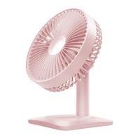 艾贝丽USB充电款桌面静音台式风扇粉色