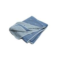 棉之选六层纱布毛巾被蓝色200*230cm