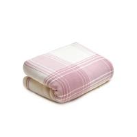 棉之选竹纤维夏凉被 粉白条纹