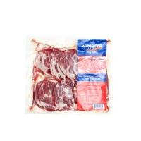 智利冷冻猪梅花肉片500g