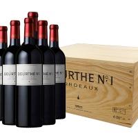 法国杜夫一号波尔多红葡萄酒木箱装6瓶
