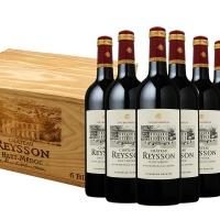 法国雷臣窖藏红葡萄酒木箱装750ml×6