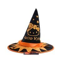 万圣节凯蒂猫印刷巫婆帽